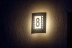 Hausnummer Beleuchtet Lampe